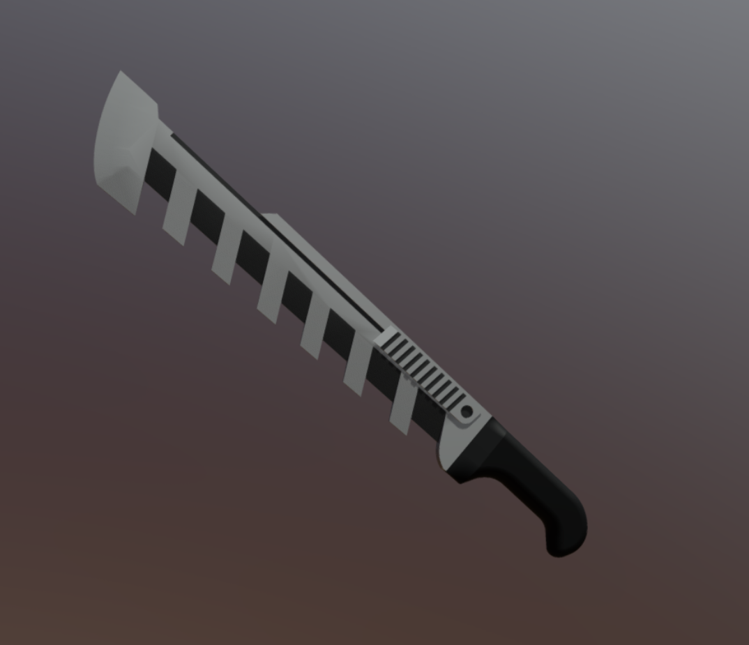 3D render of a machete model